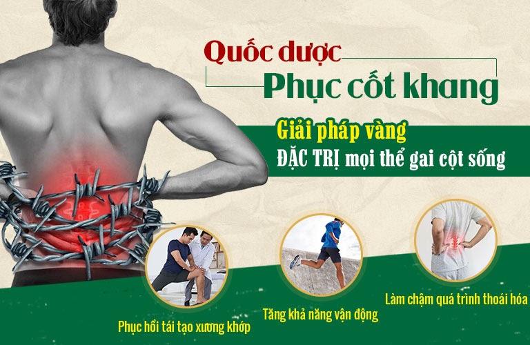 Bài thuốc Quốc dược Phục cốt khang điều trị gai cột sống hiệu quả