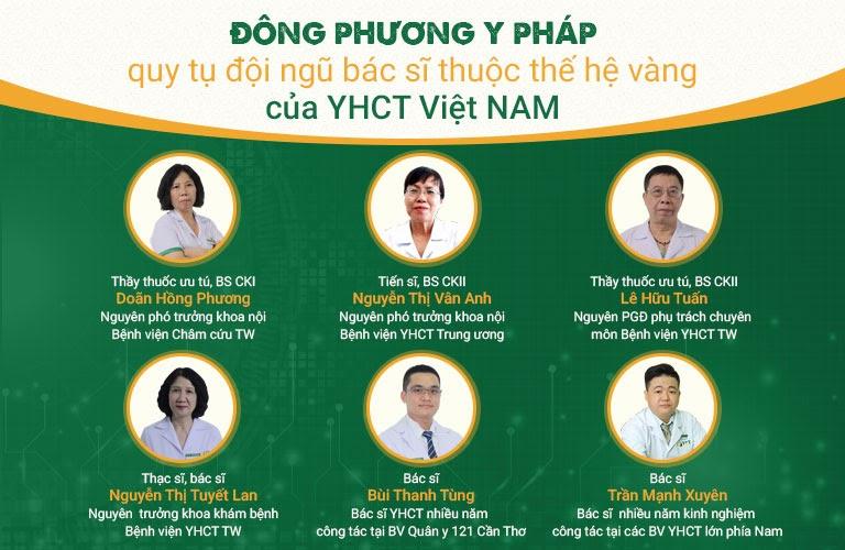 Đội ngũ Y bác sĩ Đông phương Y pháp
