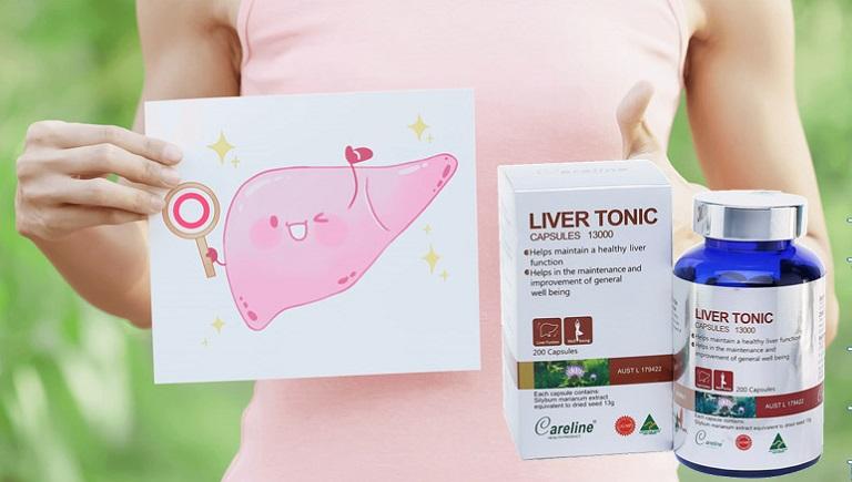 Careline Liver Tonic giúp mát gan, giảm mụn trứng cá do nóng trong
