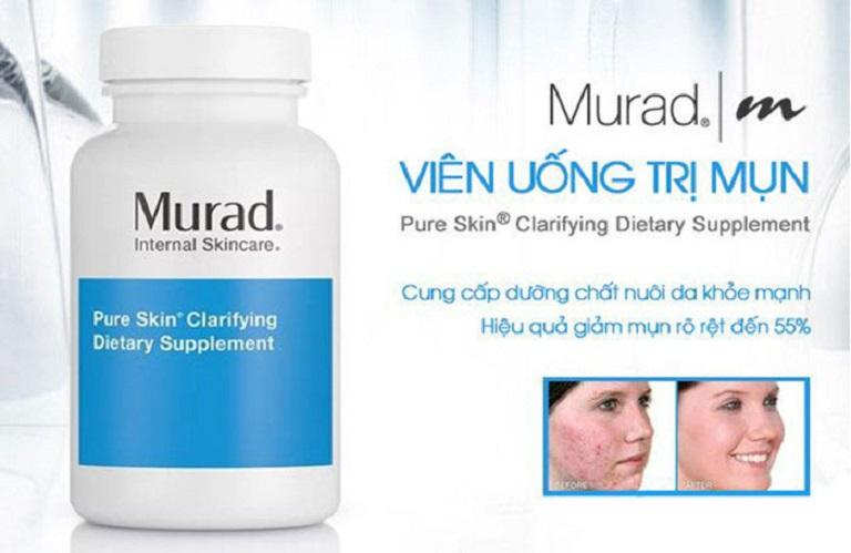 Viên uống Murad giúp làm mát gan, hỗ trợ loại bỏ mụn trứng cá từ bên trong cơ thể