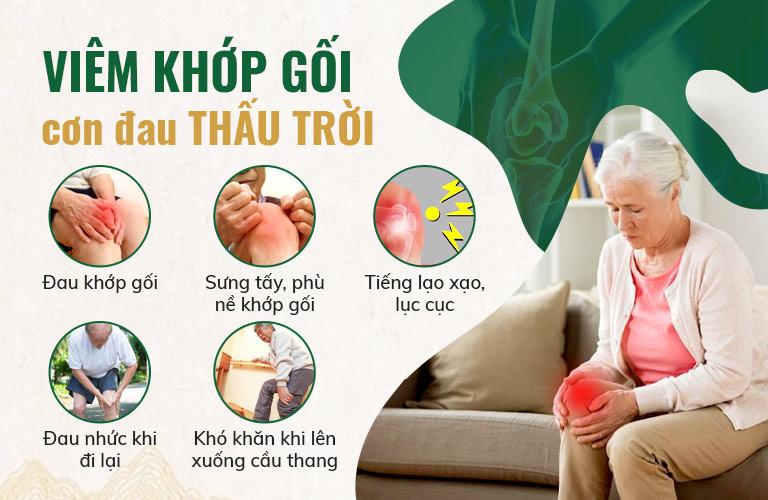 Viêm đau khớp gối với những triệu chứng đặc trưng