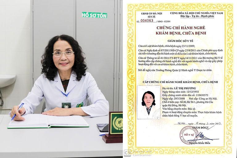 Thầy thuốc Ưu tú Lê Phương đượ đào tạo bài bản và được cấp phép hành nghề