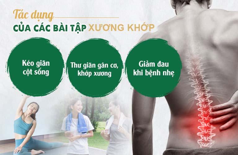 Các bài tập xương khớp có tác dụng giảm đau, cải thiện vận động