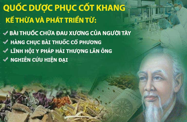 Quốc dược Phục cốt khang - bước đột phá của Y học cổ truyền Việt Nam