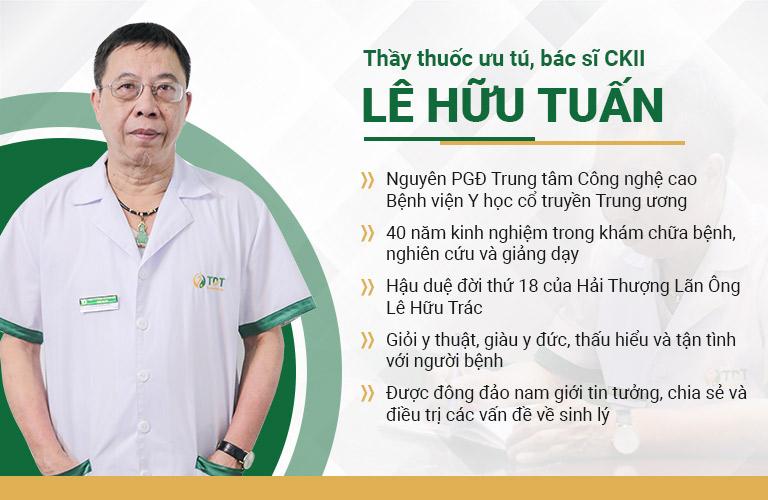 Thầy thuốc ưu tú bác sĩ Lê Hữu Tuấn là chuyên gia nam học đầu ngành