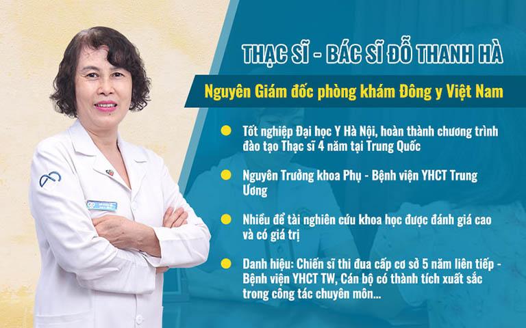 Bác sĩ Đỗ Thanh Hà đã có hơn 4 thập kỷ vận dụng phương pháp y học cổ truyền vào chăm sóc sức khỏe cho chị em phụ nữ