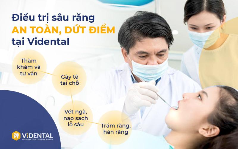 Điều trị sâu răng là một trong những dịch vụ được chú trọng, đầu tư tại Vidental