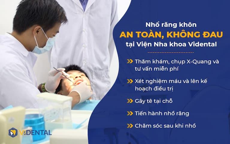 Nhổ răng khôn tại Vidental được hàng nghìn khách hàng tin tưởng lựa chọn