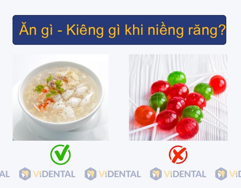 Nên đặc biệt chú ý đến chế độ dinh dưỡng khi niềng răng