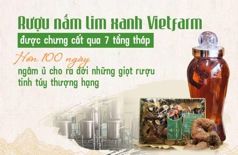 Quy trình hơn 100 ngày ngâm ủ từng bình rượu nấm lim xanh Vietfarm