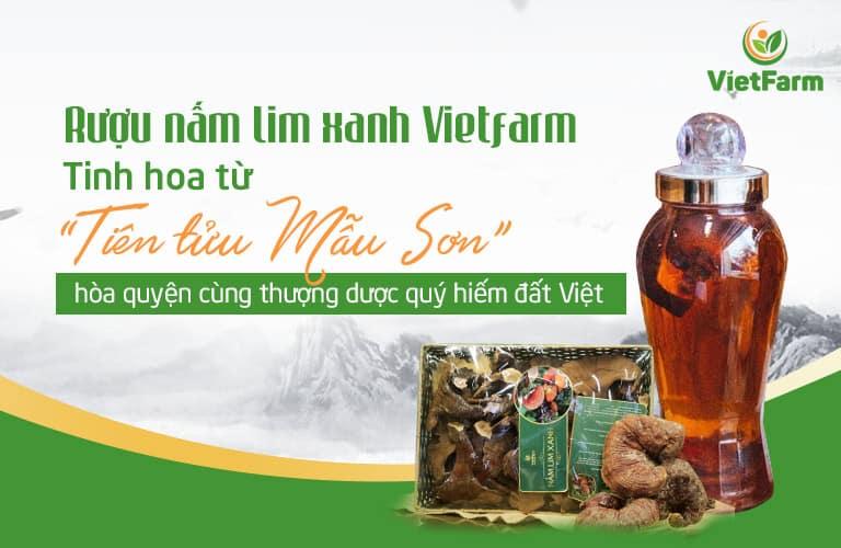 """Rượu nấm lim xanh Vietfarm: """"Tiên tửu"""" cho chất lượng thượng hạng"""