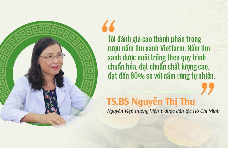 Tiến sĩ - Bác sĩ Nguyễn Thị Thư có những nhận xét tích cực