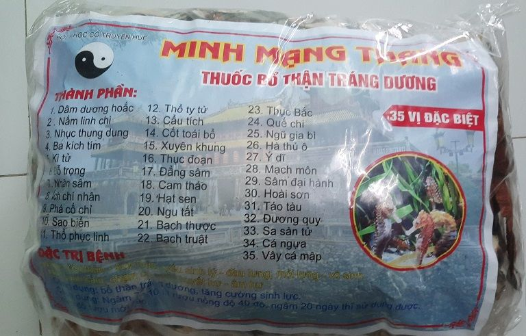 Bài thuốc Minh Mạng Thang đang được bán tại Huế