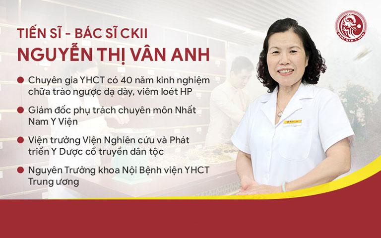 Tiến sĩ, bác sĩ Nguyễn Thị Vân Anh - Giám đốc phụ trách Chuyên môn Nhất Nam Y Viện
